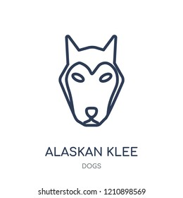 Alaskan Klee Kai dog icon. Alaskan Klee Kai dog linear symbol design from Dogs collection. Simple outline element vector illustration on white background.