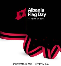 Albania Flag Day Vector Template Design Illustration