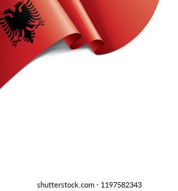 Albania flag, vector illustration on a white background