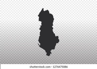 Albania Map - World Map International vector template isolated on transparent background - Vector illustration eps 10