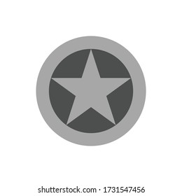 Albanian air force roundel. Military symbol. Vector Illustration