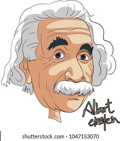 ALBERT EINSTEIN FAMOUS PERSON CARTOON PORTREIT