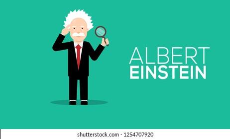 Albert Einstein flat design