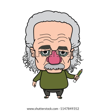 Albert Einstein Old man
