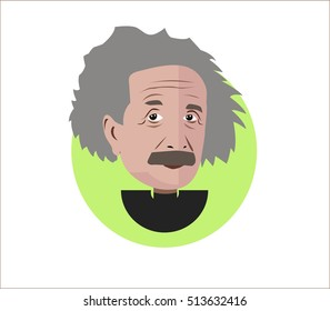 Albert Einstein vector illustration flat design