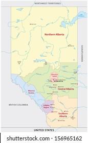alberta administrative map