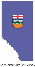 alberta map with flag