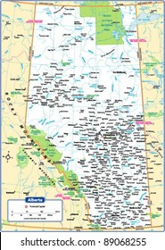 Alberta Province Map