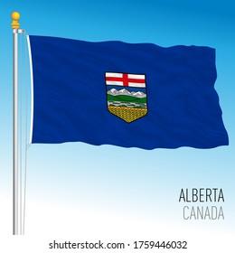 Alberta territories official flag, Canada, vector illustration
