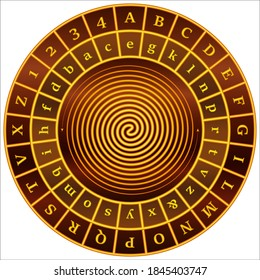 Alberti cipher disk - cipher wheel
