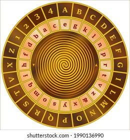 Alberti cipher disk - cipher wheel