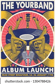 Album Launch Gig Poster Flyer Template