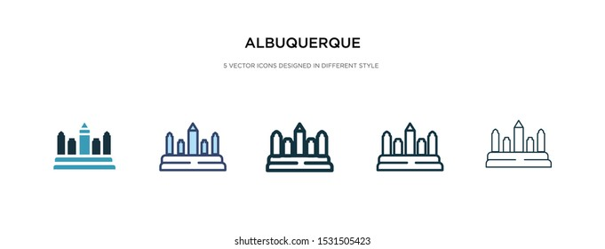 albuquerque icon in different style vector illustration. two colored and black albuquerque vector icons designed in filled, outline, line and stroke style can be used for web, mobile, ui