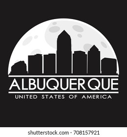 Albuquerque Skyline Silhouette City Vector Design Art