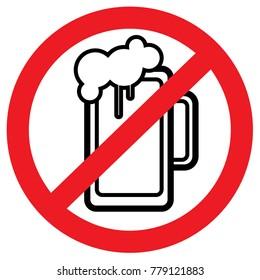 alcohol forbidden pictogram