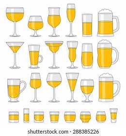 Alcohol glasses set