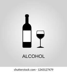 Alcohol icon. Alcohol symbol. Flat design. Stock - Vector illustration