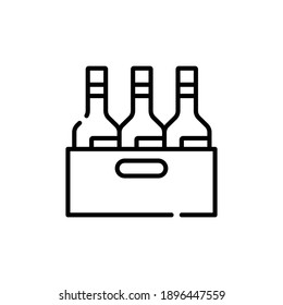 Alcohol Line Icon Isolated On White Background