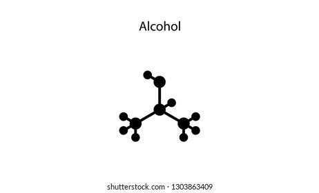 Alcohol molecular structure vector design