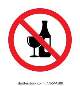 alcohol prohibition sign
