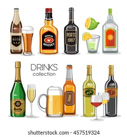 Alcoholic drinks collection