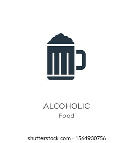 Alcoholic icon vector. Trendy flat alcoholic icon from food collection isolated on white background. Vector illustration can be used for web and mobile graphic design, logo, eps10