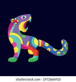 Alebrije of a panther Mexican culture