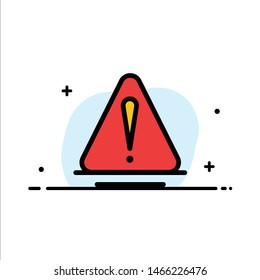 Alert, Danger, Warning, Logistic  Business Flat Line Filled Icon Vector Banner Template. Vector Icon Template background