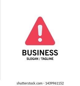 Alert, Danger, Warning, Sign Business Logo Template. Flat Color