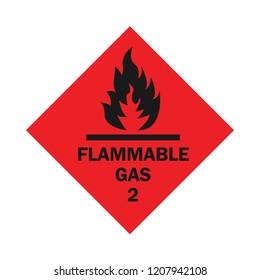 an alert of flammable gas, vector icon, glyph design, common public sign