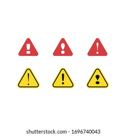 Alert icon with exclamation sign. Vector illustration.