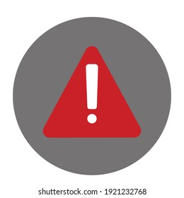 Alert sign icon. Warning and exclamation symbol. Vector illustration.