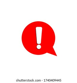 alert symbol isolated on white background, caution message