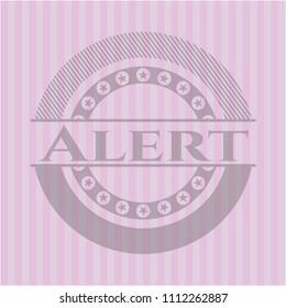 Alert vintage pink emblem