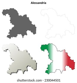 Alessandria Map Vector Images Stock Photos Vectors Shutterstock