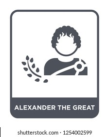 alexander the great icon vector on white background, alexander the great trendy filled icons from Greece collection, alexander the great simple element illustration