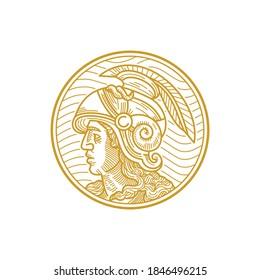 Alexander The Great in monoline style vector.
