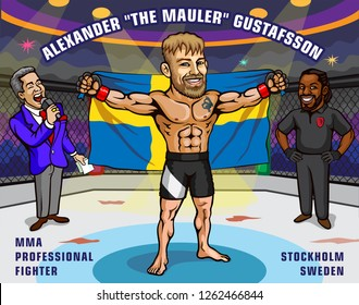 Alexander Gustafsson is a Swedish professional mixed martial artist. He is currently signed to the Ultimate Fighting Championship (UFC) where he competes in their light heavyweight division.