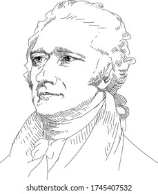 Alexander Hamilton - US statesman, prominent American revolutionist, Ideologist and leader of the Federalist Party since its inception, 1st US Treasury Secretary