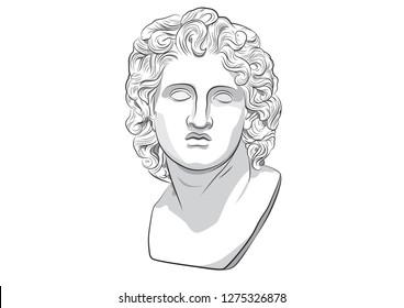 Alexander III of Macedon Alexandria the Great Ancient Greek Argead dynasty Babylon polytheism Basileus of Macedon, Hegemon, Persia, Pharaoh Egypt, Lord Asia sculpture helios god roma vector