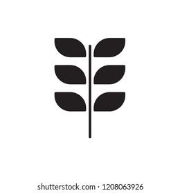 alfalfa icon vector. vegetable icon glyph style