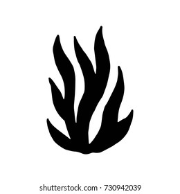 algae vector black silhouette