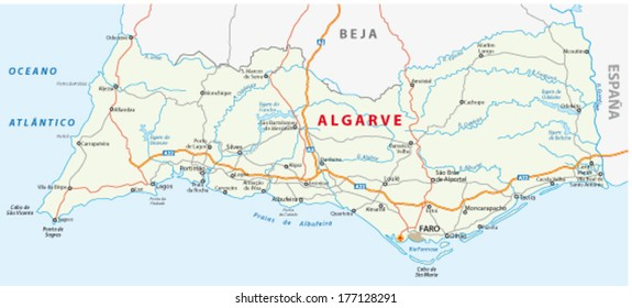 algarve road map