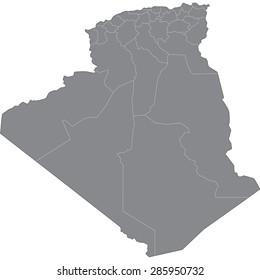 Carte Algeria Vector.Images Photos Et Images Vectorielles De Stock De Carte