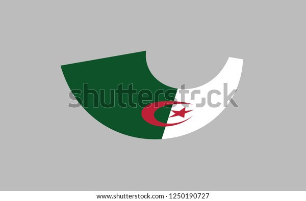 Christmas 2020 Embelm Algeria National Flag Country Embelm State Stock Vector (Royalty