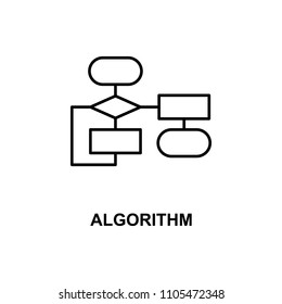 algorithm icon. Element of technologies icon with name for mobile concept and web apps. Thin line algorithm icon can be used for web and mobile. Premium icon on white background
