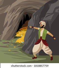 ali baba and the hidden treasure inside a cave tale