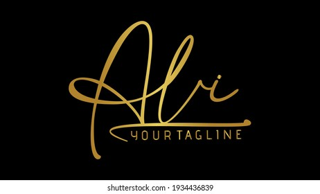 ALI, ali Beauty vector urdu pakistani name logo, handwriting logo signature, photography, wedding, fashion, jewerly, boutique, floral and botanical with creative template for any company or business.