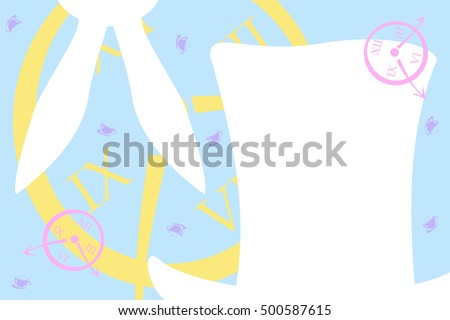 Alice Wonderland Background Vector de stock (libre de regalías ...