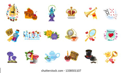 Alice in wonderland characters collection.